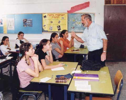 AMIT Sderot Religious Junior and Senior High School Teacher and Students