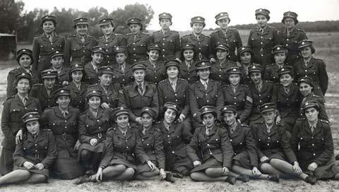 ATS Recruits and Instructors at Sarafand Training Depot, February 1943.