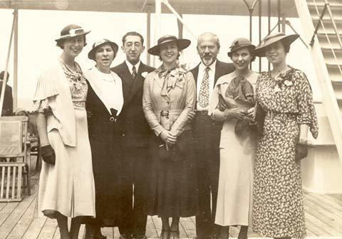 Judith Kaplan Eisenstein with Her Family, circa 1930s