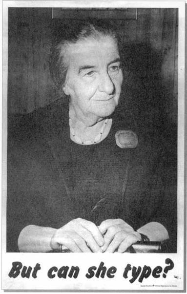 "Golda Meir on ""But Can She Type?"""