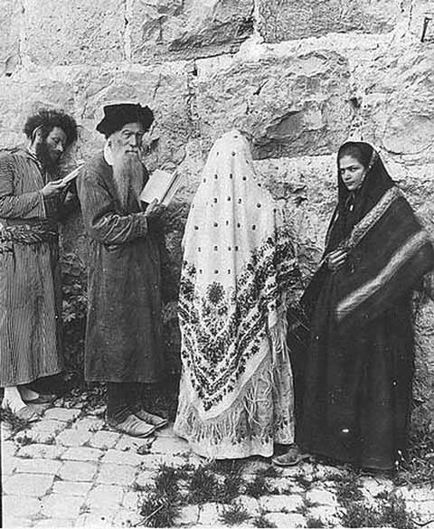 Jewish Men and Women in the Levant, circa 1908