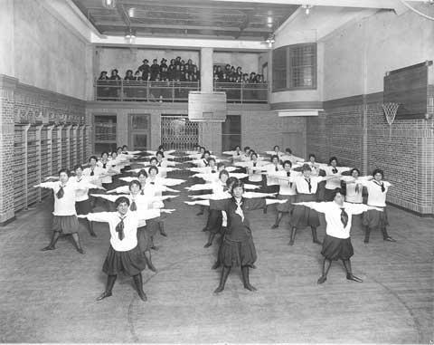 Exercise at Young Women's Hebrew Association of New York, 1914