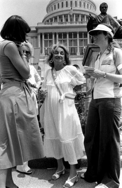 Betty Friedan at the ERA march in Washington, DC, July 9, 1978