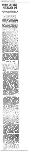 New York Times article, Sept. 6, 1970