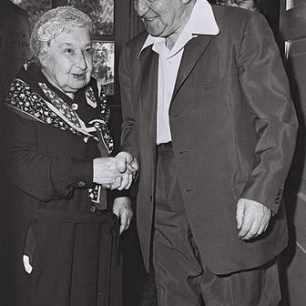 Angelica Balabanoff with David Ben Gurion, Tel Aviv, 1962