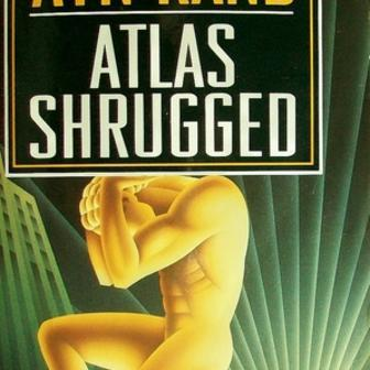 """Atlas Shrugged"" Front Cover by Ayn Rand"
