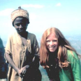 Barbara Gaffin and Ethiopian boy