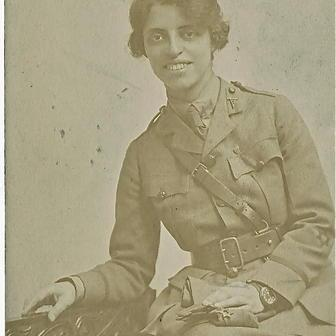 Sophie Rabinoff in Uniform, 1918