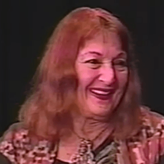 "Frances Alenikoff During ""The Play is the Thing"" Interview"