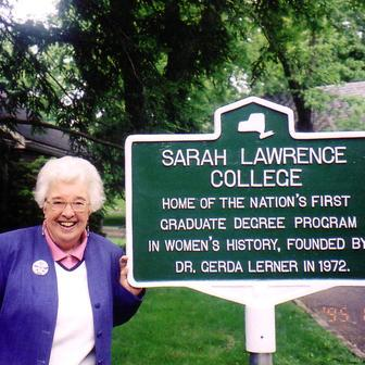 Gerda Lerner at Sarah Lawrence College