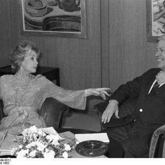 Lilli Palmer and Helmut Schmidt, April 1, 1982
