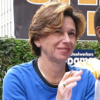 Randi Weingarten at a Hillary for Obama Rally, 2008