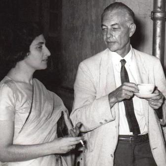 Ruth Prawer Jhabvala and William Phillips, 1962