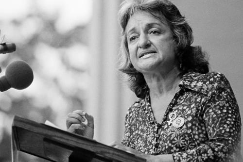 Betty Friedan speaking