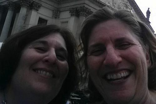 Rabbi Lucy H.F. Dinner and Rabbi Denise Eger Selfie cropped
