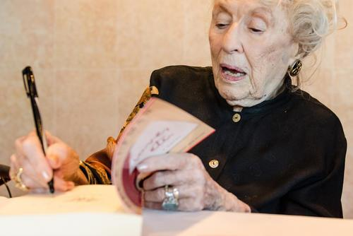 Bel Kaufman Signing Books at JWA Event, 2013