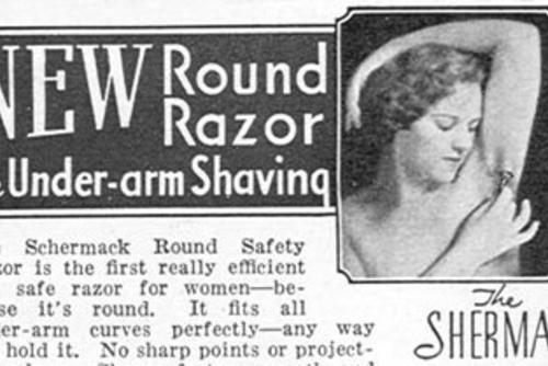 Women's Razor Advertisement circa 1930s, cropped