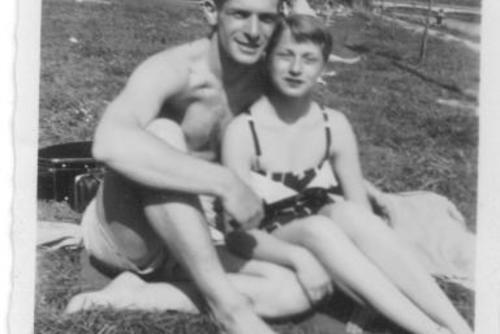 Alice and Marv Olick in Dillingen, Germany 1953-1954
