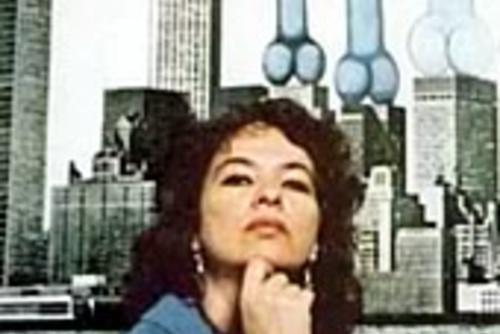 Anita Steckel portrait with building penises