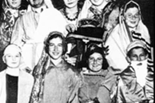 Bella Abzug and Others in a Purim Play, New York City, 1934