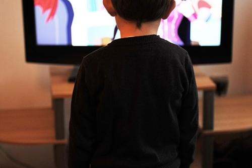 Kid Watches Television