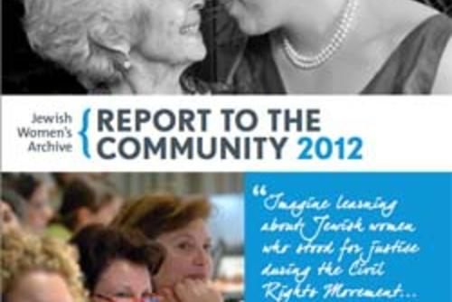 Jewish Women's Archive: Report to the Community 2012 Thumbnail