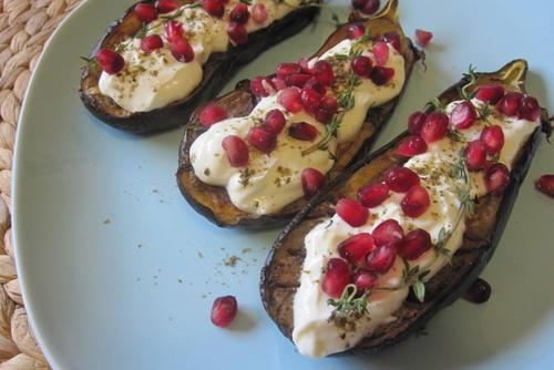 Eggplant with Greek Yogurt Sauce
