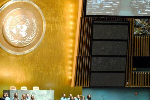"Performance of Elizabeth Swados' ""Sosua"" at the United Nations General Assembly"