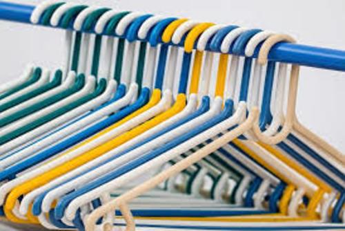 Clothing Hangers on a Rack