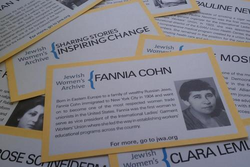 Fannia Cohn table card