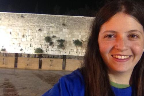 Gabi Cantor at the Western Wall