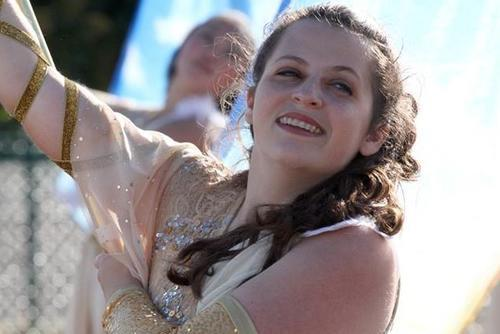 Rising Voices Fellow Gabrielle Cantor in Color Guard (Cropped)