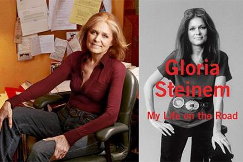 "Gloria Steinem, 2010, with ""My Life On The Road"" Cover, 2015"