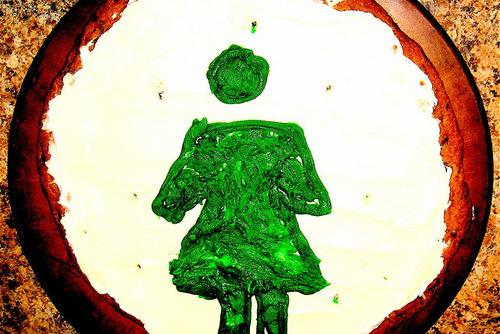 Green Woman Impressionistic