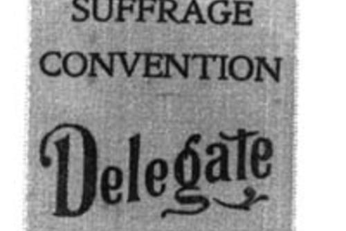 Ribbon worn by Weil at the National Suffrage Convention