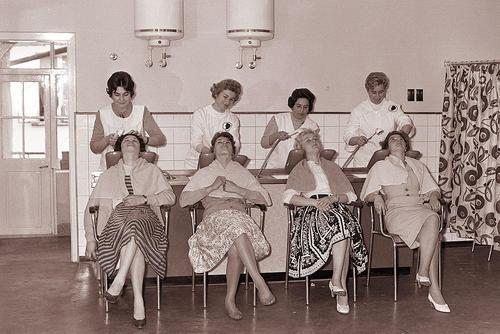 Women Getting Hair Done circa 1960