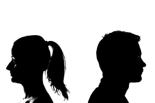 Man and Woman in Profile