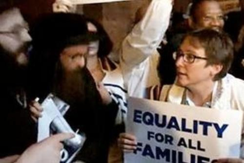 Rabbi Kleinbaum at Gay Marriage Demontration