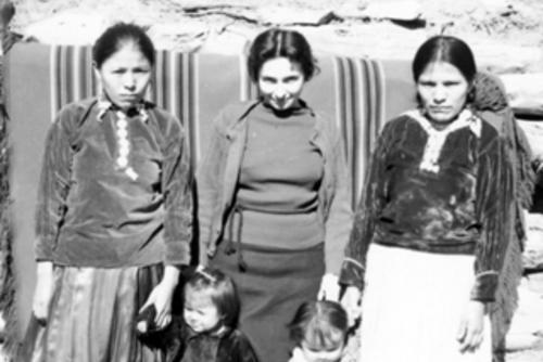 Lucy Kramer Cohen and Navajo Women circa 1937-38