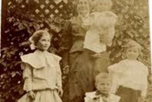 Mary Kobey with grandchildren, c.1905