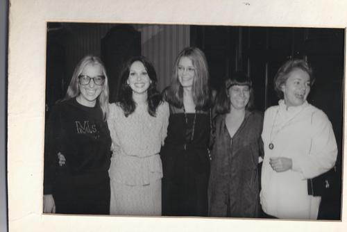 Letty Cottin Pogrebin, Marlo Thomas, Gloria Steinem, Robin Morgan, and Pat Carbine, late 1970s