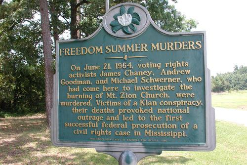 Freedom Summer Murders Memorial, Jackson, Mississippi