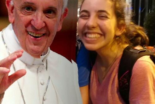 Rising Voices Fellow Rana Bickel with the Pope