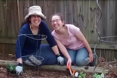 Rising Voices Fellow Rana Bickel Gardening with her Mom