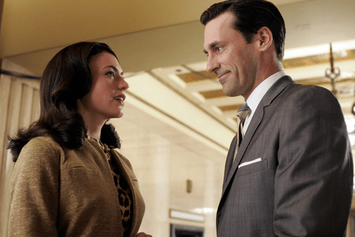 Rachel Menken and Don Draper from Mad Men