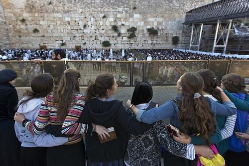 Sophie Edelhart at the Western Wall