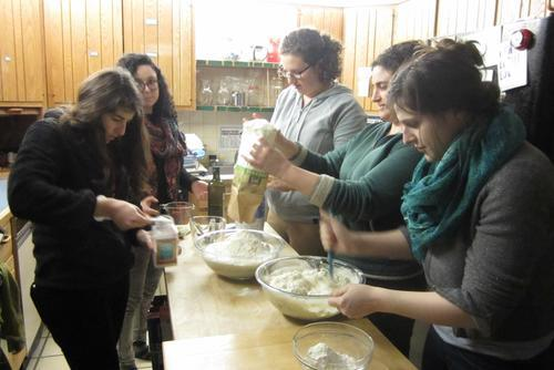 Etta King Making Challah with Spiritual Kneading