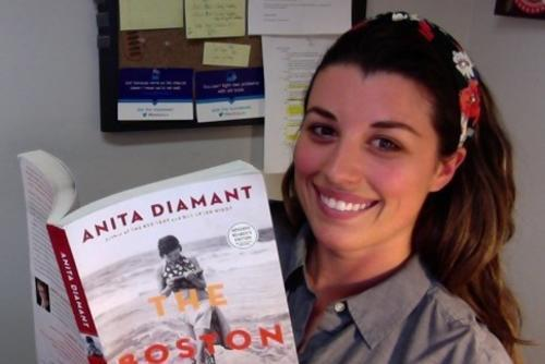 "Tara reading ""The Boston Girl"""