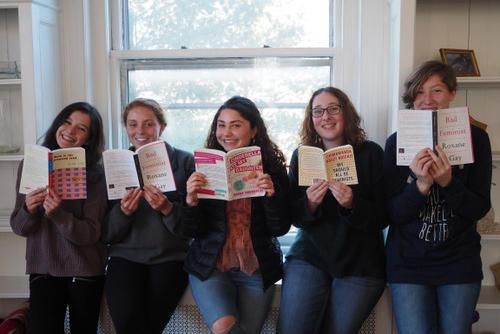 2016-2017 Rising Voices Fellows during book swap