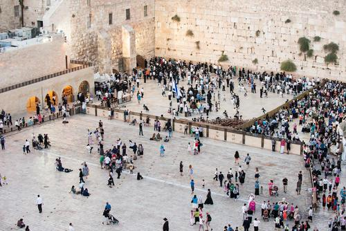 Western Wall before sunset